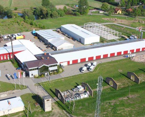 Centrum magazynowe z płyty warstwowej pod Warszawą